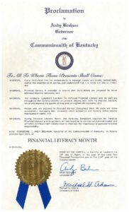 Gov. Beshear Proclaims April as Financial Literacy Month
