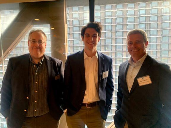 Kentucky Financial Empowerment Commission members David Perkis (L) and David Sandlin (R) with KFEC Executive Director Matt Frey